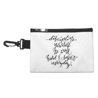 Discipline Yourself to Work Hard & Smart Everyday Accessory Bags