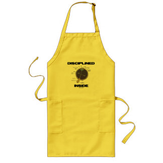 Disciplined Eye (I) Inside (Eyeball Anatomy Humor) Long Apron