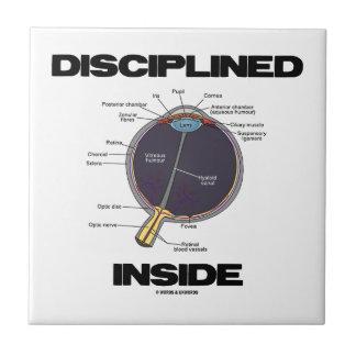 Disciplined (Eye) Inside (Eyeball Anatomy) Small Square Tile