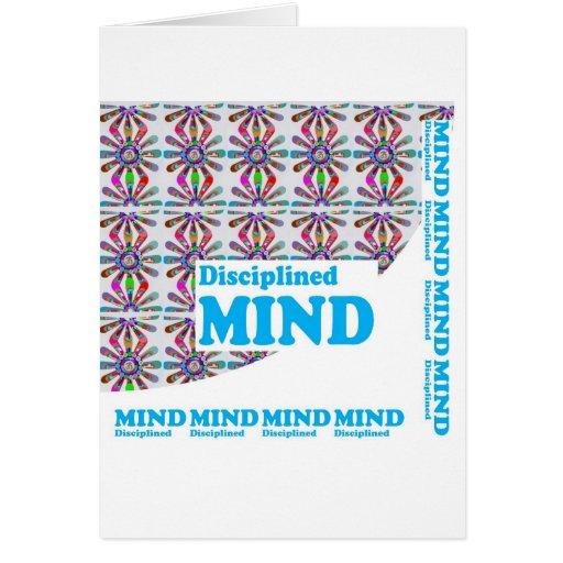 Disciplined MIND : Motivational Wisdom SCRIPT Greeting Card