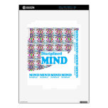 Disciplined MIND : Motivational Wisdom SCRIPT Decal For The iPad 2