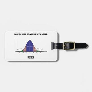 Disciplined Probabilistic Mind Inside Bell Curve Luggage Tag