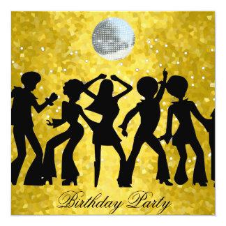 Disco 70's Birthday Party Invitation Custom Invitations