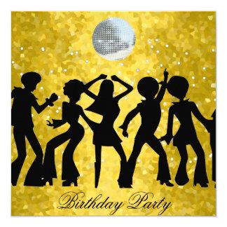 Disco 70's Birthday Party Invitation