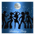 """Disco 70's Birthday Party Invitation 5.25"""" Square Invitation Card"""