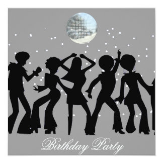 Disco 70's Birthday Party Invitation Custom Announcement