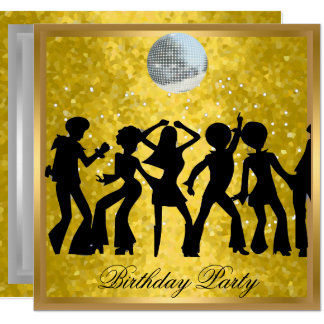 Disco 70's Birthday Party Invitation Retro