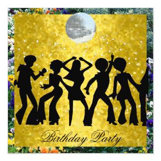 Disco 70's Birthday Party  Retro 2 Card