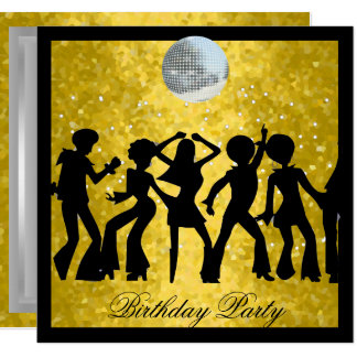 Disco 70's Birthday Party  Retro Card