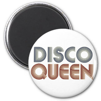 Disco 70s Music Retro Queen 2 Inch Round Magnet