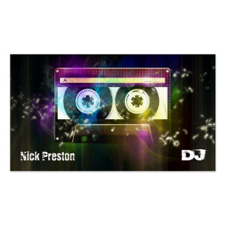 Disco 80 Old Cassette DJ Business Card