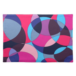 Disco abstract circle design. place mat