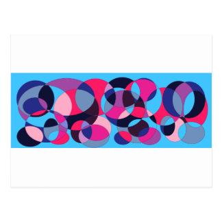 Disco abstract circle design. postcard