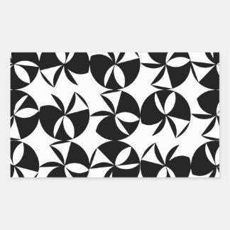 Disco abstracto pegatina rectangular