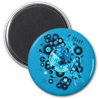 Disco_Ball 2 Inch Round Magnet