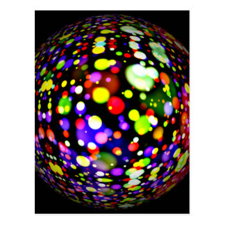 disco-ball-381907  COLORFUL BOHEK MUSIC PARTY CIRC Postcard
