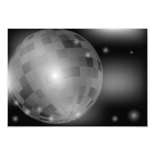 "Disco Ball 3.5"" X 5"" Invitation Card"