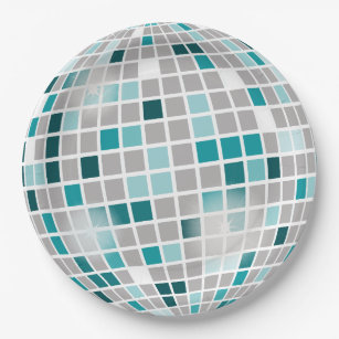Disco Ball Birthday Party Paper Plates  sc 1 st  Zazzle & Mirror Disco Ball Plates | Zazzle
