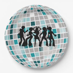 Disco Ball Birthday Party Paper Plates  sc 1 st  Zazzle & Mirrored Disco Ball Plates | Zazzle