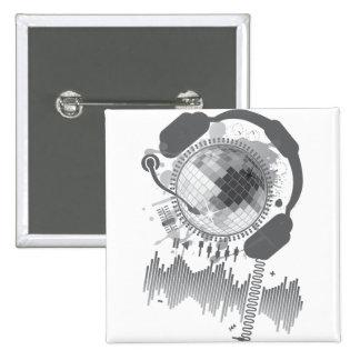 Disco_Ball 2 Inch Square Button