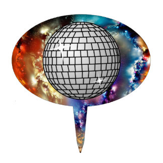 disco ball cake topper