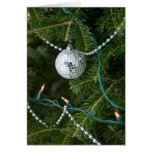 Disco Ball Christmas Ornament Greeting Card