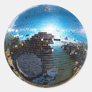 disco ball classic round sticker