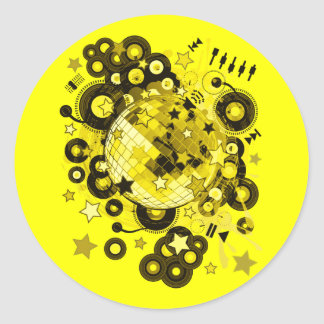Disco_Ball Classic Round Sticker