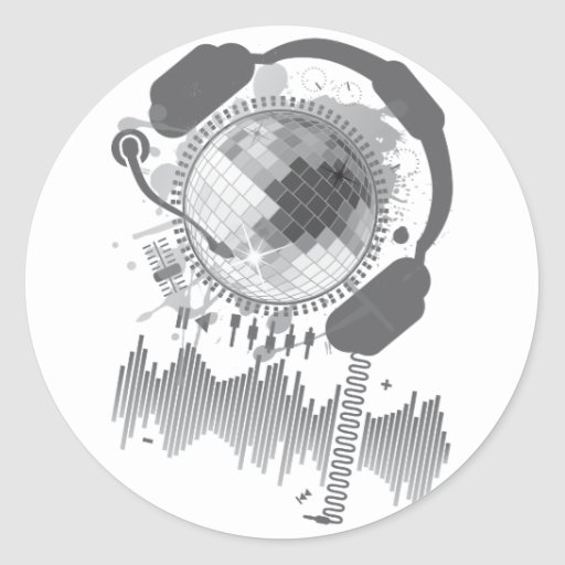 Disco_Ball Classic Round Sticker