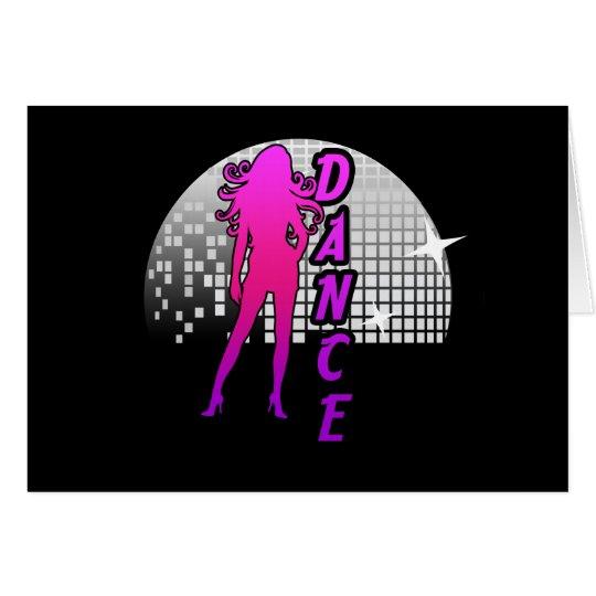 Disco Ball Dancer. Card