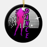 Disco Ball Dancer. Double-Sided Ceramic Round Christmas Ornament