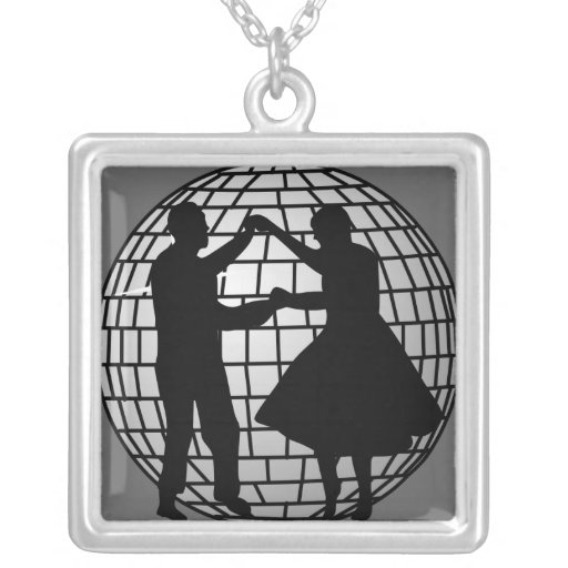 Disco Ball Dancers Necklaces
