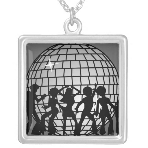 Disco Ball Dancers Pendants