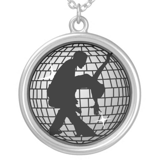Disco Ball Dancers Custom Necklace