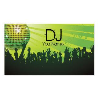 Disco Ball -DJ Business card-green
