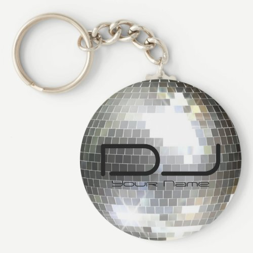 Disco Ball DJ Keychain