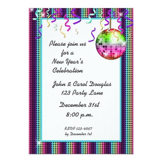 Disco Ball Dots Invitation