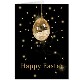 Disco Ball Easter Egg - Greeting Card