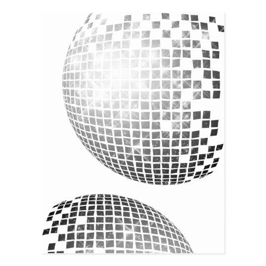 Disco Ball Fun Retro Postcard