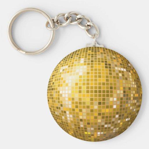 Disco Ball Gold Keychain