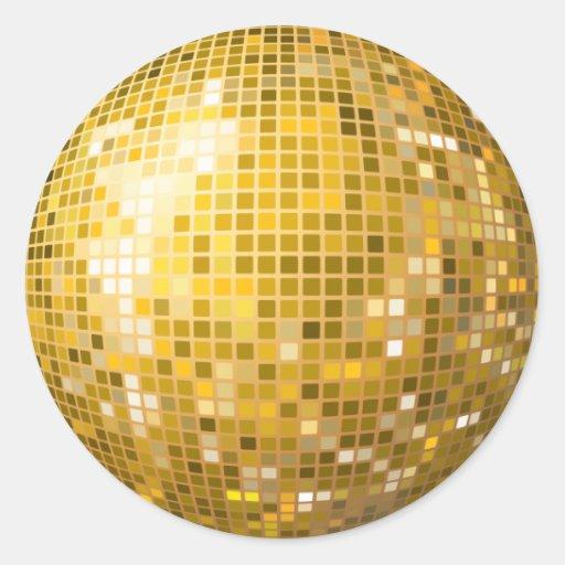 Disco Ball Gold Sticker | Zazzle