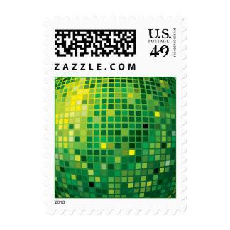 Disco ball green Postage