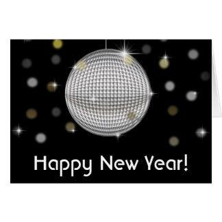 Disco Ball Happy New Year Greeting Card