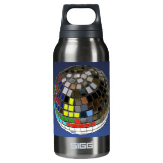 disco ball insulated water bottle
