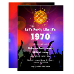 Disco Ball | Let's Party Like It's | Birthday Invitation