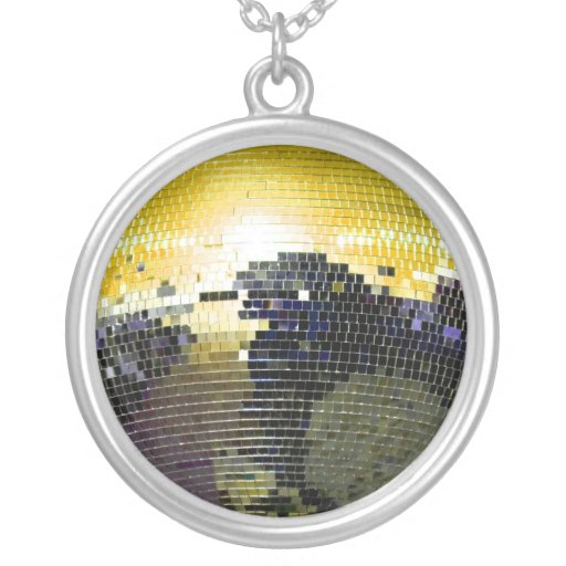 disco ball custom necklace
