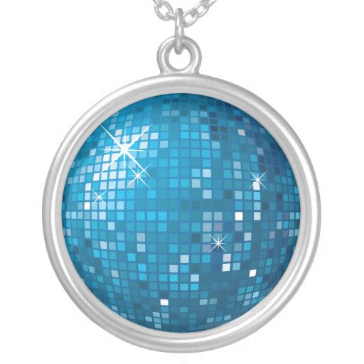 Disco Ball Personalized Necklace