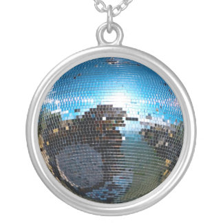 disco ball round pendant necklace