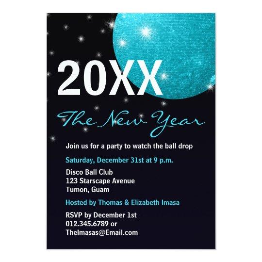 Disco Ball New Years Invitations