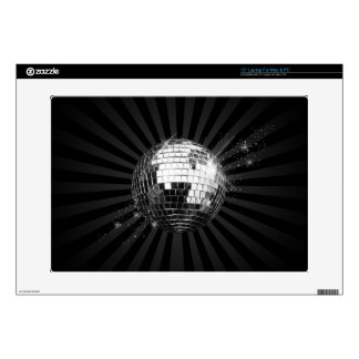 "Disco Ball on Black Decals For 15"" Laptops"
